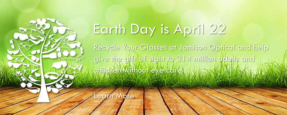 Earth Day April 22 Glasses Recycling