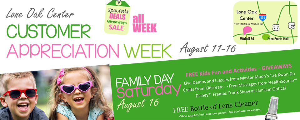Lone Oak Customer Appreciation Week Aug 11-16
