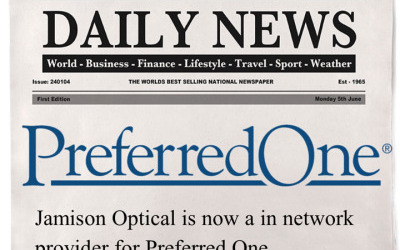 Jamison Optical is a Preferred One Provider